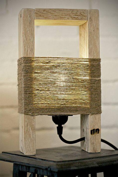 Pallet Lamp Deco Bois Palette Diy Lampe Bois