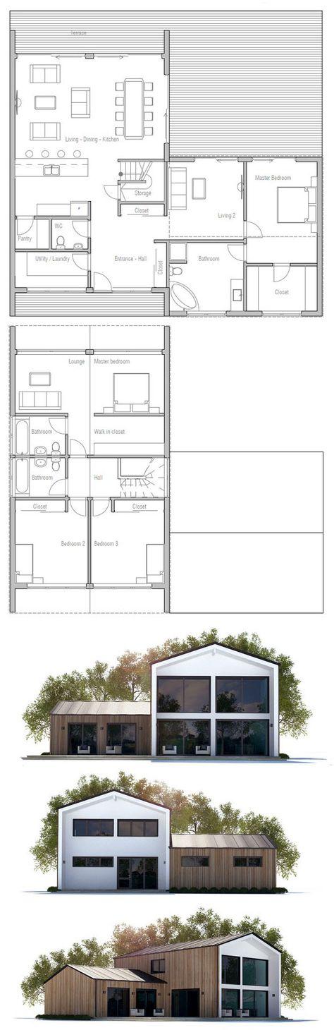 11 best Plan de maison images on Pinterest House template, House - plan de maison plein pied gratuit