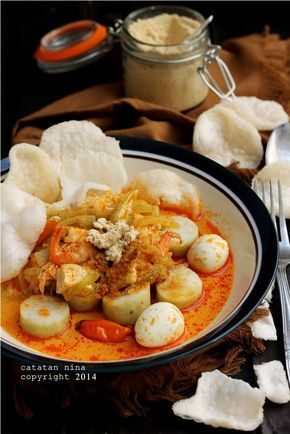 Resep Lontong Sayur Labu Siam : resep, lontong, sayur, LONTONG, SAYUR, Resep, Makanan, Asia,, Makan, Malam,, Masakan