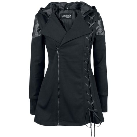 Stylish Hooded Long Sleeve Lace-Up Gothic Vampire Coat For Women