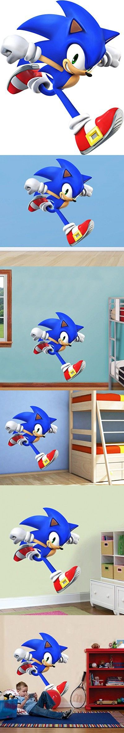 SONIC RUN Super Smash Bros Decal Removable WALL STICKER Home Decor Art Hedgehog