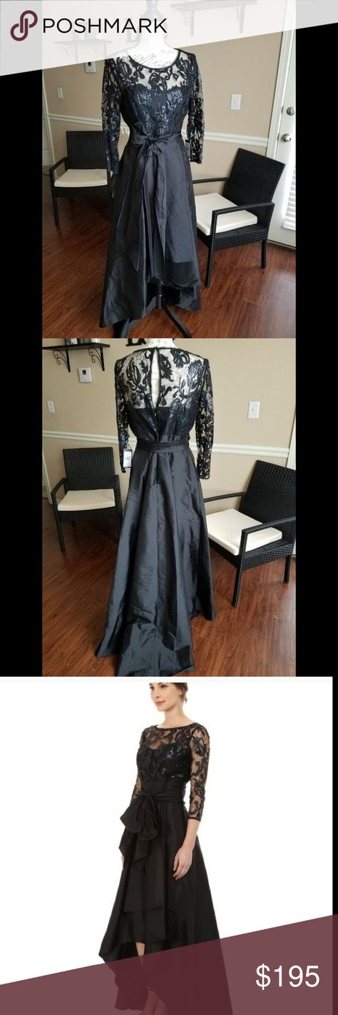 5539104766 Formal dress New with tags! Gorgeous black high low dress from Adrianna  Papell. Sequin