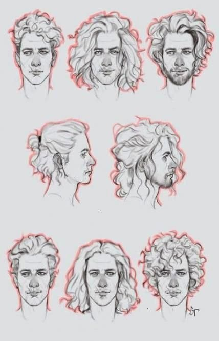 Hairdrawing Reference Drawing Ideas Hair Male Back Best 59hair Drawing Reference Male Back 59 Be Curly Hair Drawing Drawing Male Hair How To Draw Hair