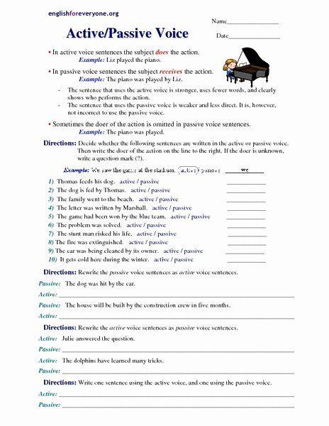 Active Passive Voice Worksheet New Passive Voice Education Pinterest Chessmuseum Template Li Active And Passive Voice Writing Worksheets Grammar Worksheets Active and passive voice worksheets