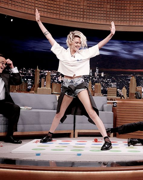 """"""" """"July 11   Kristen Stewart at The Tonight Show with Jimmy Fallon """" """""""