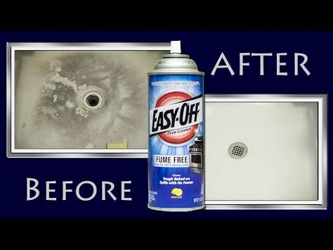 How To Make A Shower Floor White Clean Again With Oven Cleaner ( Omgoodness. Where has this tip been?)