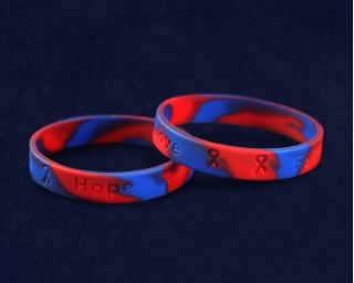 50 Red Blue Silicone Bracelets