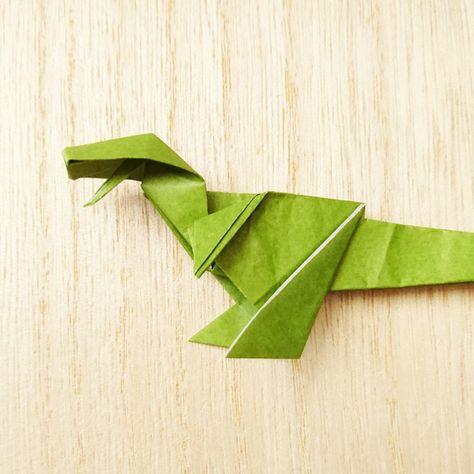 折り紙1枚でトライ 迫力の 立体的な恐竜 の作り方 Weboo ウィーブー 自分でつくる 折り紙 恐竜 作り方