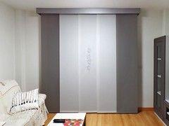 Panel Japones Bordado Con Galeria Gris Y Blanco Paneles Japoneses Decoración De Unas Decoracion Dormitorios