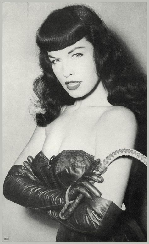 Bettie Page and the bangs every girl I know has copied.
