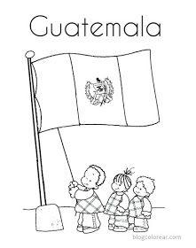Colorear Dibujo De Bandera Nacional Guatemala Bandera De Guatemala Simbolos Patrios Guatemala Simbolos Patrios