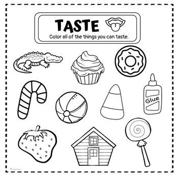 Five Senses Book Coloring Pages Differentiated Coloring