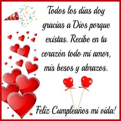 Feliz Cumpleanos Mi Amor Imagenes Y Frases Imagenes Para Whatsapp Happy Mothers Day Wishes Happy Birthday Notes Birthday Wishes Quotes