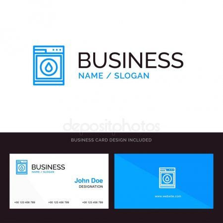 Logo And Business Card Template For Laundry Machine Washing R