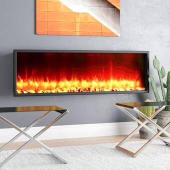 Quevedo Wall Mounted Electric Fireplace Recessed Electric Fireplace Wall Mounted Fireplace Wall Mount Electric Fireplace