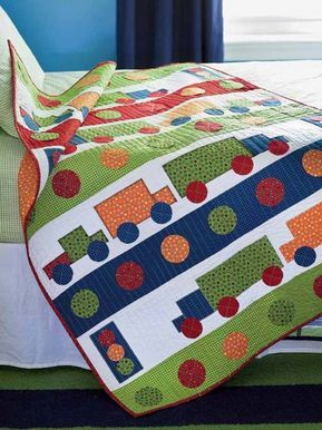 City Streets Baby Quilt Digital Pattern | childrens quilt