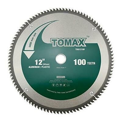 Tomax 12 Inch 100 Tooth Tcg Aluminum And Non Ferrous Metal Saw Blade With 1 I In 2020 Table Saw Blades Saw Blade 10 Inch Table Saw