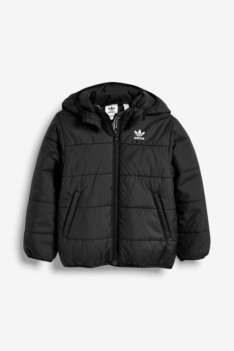 Black padded jacket, Padded jacket, Jackets