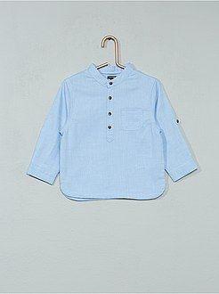 Niño 0-36 meses - Camisa de chambray con cuello mao - Kiabi  21f572673a79