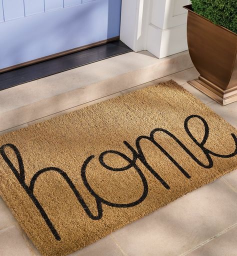 Our Home Coir Door Mat is hand-tufted with thousands of natural coir fibers to scrub dirt, slush, and mud off shoes, so indoor space stays clean. Coir naturally resists mold and mildew, and color is printed with acrylic dyes to resist fading.