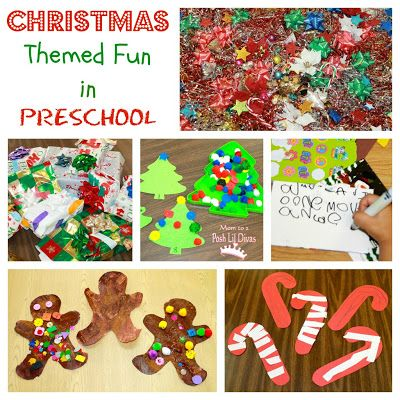 Christmas themed preschool activities - math, writing, fine motor, sensory table, crafts & more