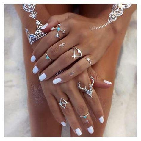 Ring Silver Fine Turquiose Boho