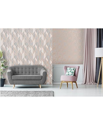 Graham Brown Milan Texture Wallpaper Reviews All Wall Decor Home Decor Macy S Rose Gold Wallpaper Home Decor Grey Removable Wallpaper