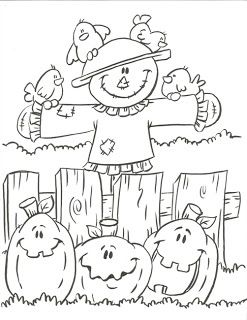 pin by hui1017 on pinterest thanksgiving scarecrows and craft - Fall Coloring Pages Free