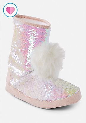 53819897b126 Flip Sequin Slipper Boot | Pajama Party! | Slippers, Girls shoes, Shoes