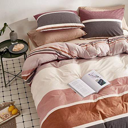 Joyreap 3 Pcs Duvet Cover Set Queen Premium Washed Cotton Bed