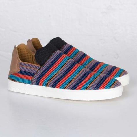 on sale 435e3 14e53 Adidas-x-Pharrell-Williams-Elastic-Slip-On-Pink-Beach-Pack-AQ4919-Men-sizes