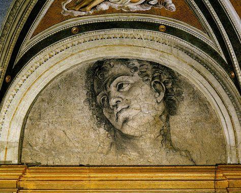 Villa Farnesina fresco attributed to Michelangelo