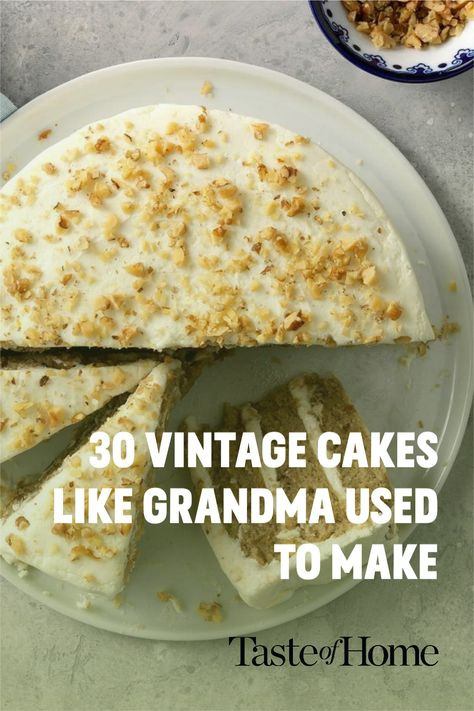 From fluffy angel food to charming butter pecan, vintage cakes are making a comeback. Bake your way through this collection of classic recipes and make your grandma proud. Make sure you have the right cake supplies to set your dessert up for sweet success!