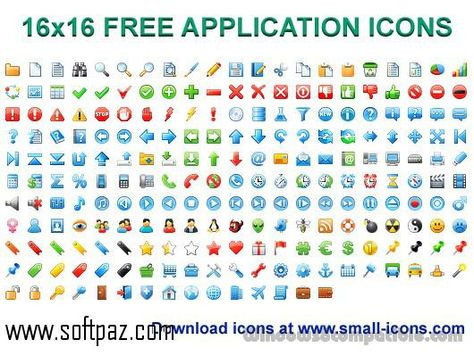 Get the 16x16 Free Application Icons software for windows for free - free resume downloader