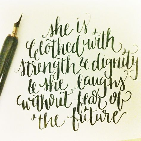 She Is Clothed In Strength And Dignity Verse Tattoo Check Now Blog