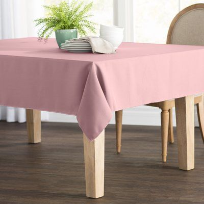 Wayfair Basics Poplin Rectangular Tablecloth Color Dusty Rose