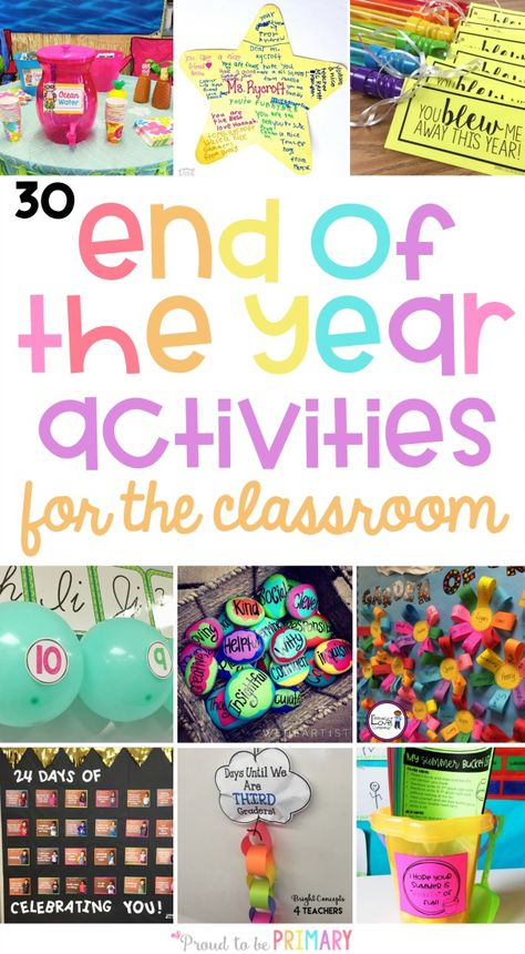 30 Memorable End of the School Year Activities