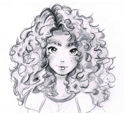 59 Ideas Hair Curly Drawing Anime Girls For 2019 Hair Drawing