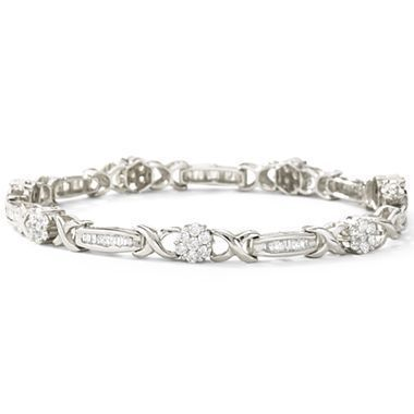 2 Ct T W Diamond Tennis Bracelet 10k