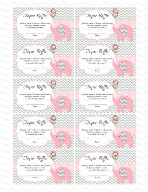 Baby Shower games Elephant Baby Shower Diaper Raffle by diymyparty