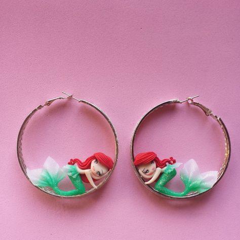 Fimo: Ohrringe mit Meerjungfrauen