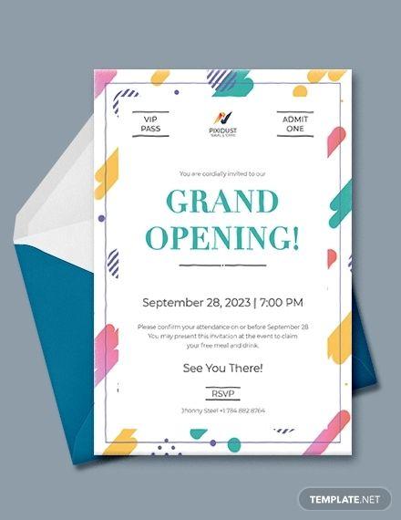 10 Format Of Office Opening Invitation Card Free Template And Review Desain Kartu Undangan Undangan Desain Undangan