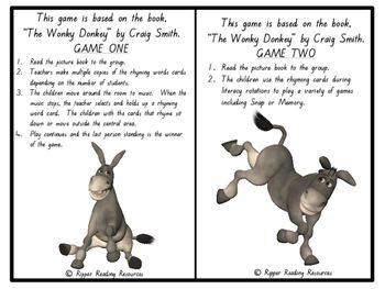 The Wonky Donkey Vocabulary Games Inferring And More