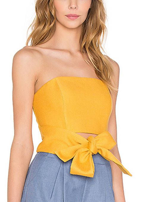 Marigold Bustier Top with Bow
