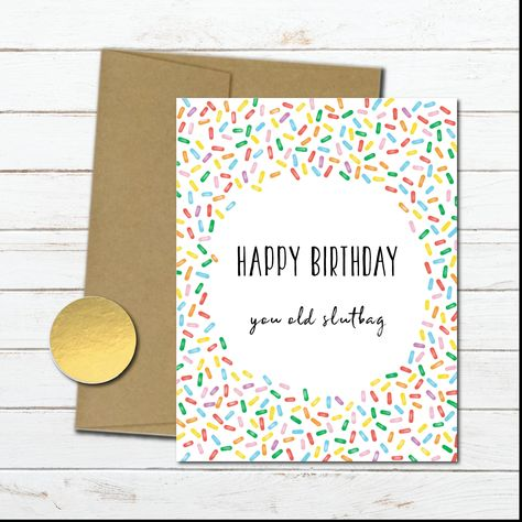 Rude Funny Birthday Card For Her Naughty Friend Mom Wife