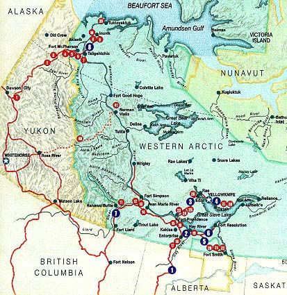 Detailed Map Of North West Territories Canada Map Road Map of the Northwest Territories, Canada | Northwest