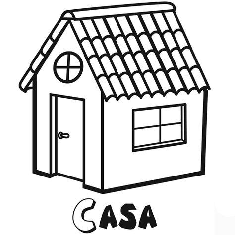 Nome Casa Casa Para Colorir Casa Com Telhado Modelo De Casa