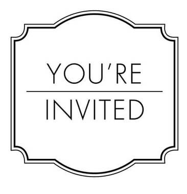 Bliss You Re Invited Stamp Clip Youre Invited Invitations Stamp