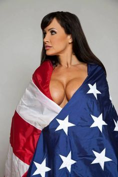 Flag american girl naked with
