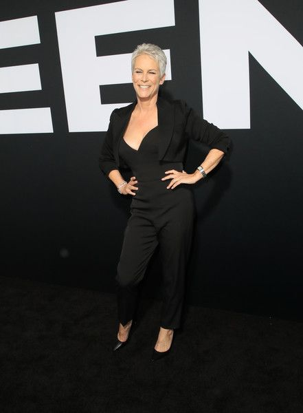 Jamie Lee Curtis attends the premiere of Universal Pictures' 'Halloween' at TCL Chinese Theatre.